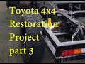 Toyota 4x4 Pickup to Flatbed Camper Conversion - Part 3