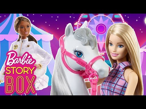 Barbie Horse is Missing. Can Barbie and the Beekeeper find Her?   Barbie Story Box   Barbie