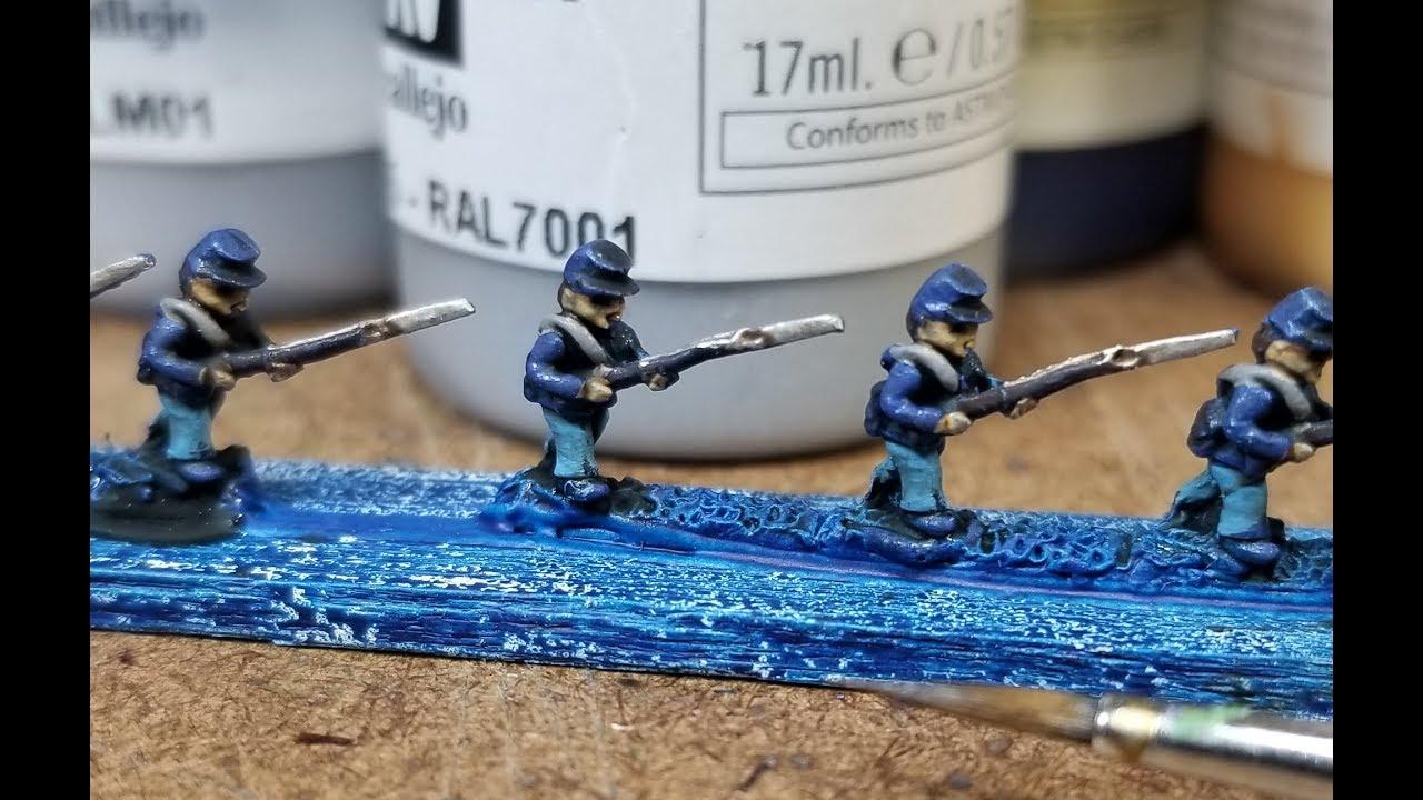Painting Tutorial - Adler 6mm Union Line Infantry