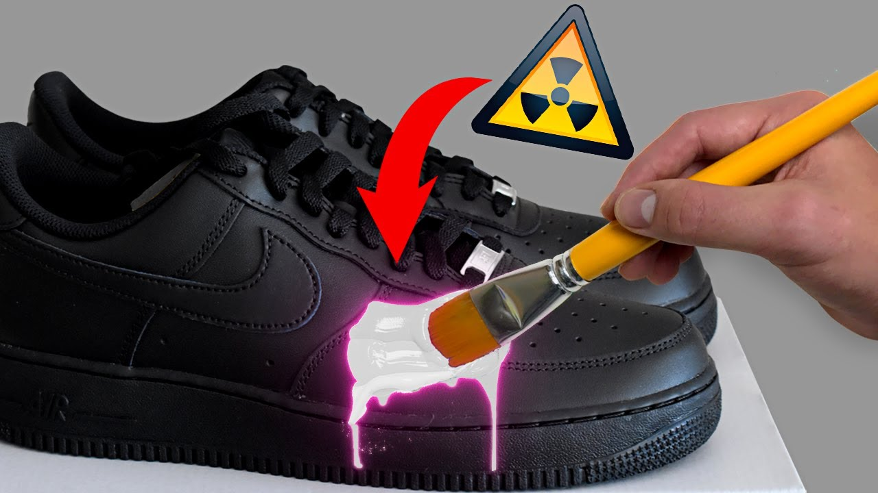 PERSONALIZANDO UNAS AIR FORCE 1 CON ÁCIDO!! *Tutorial*☣️👟🎨