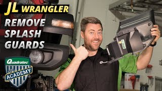 How to Remove the Splash Guard from a 2018 Jeep Wrangler JL