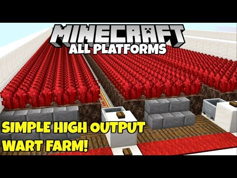 Minecraft: Simple And Efficient Nether Wart Farm Tutorial! Bedrock Java Console