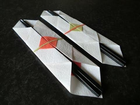 クリスマス 折り紙 : 箸入れ 折り紙 : youtube.com