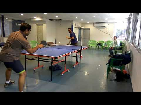 Forehand topspin by Hirak Chakraborty
