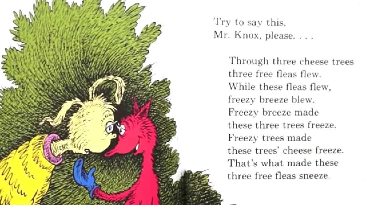 Dr Seuss Fox In Socks Phonological Awareness You Gotta Love Nursery Rhymes