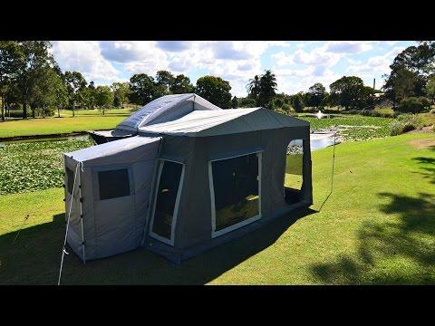 Camptime Forward Fold Camper Trailer Setup