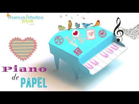 Piano de papel patron gratis manualidades con papel para - Youtube manualidades de papel ...