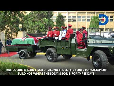 The final journey for Kenya's second president begins