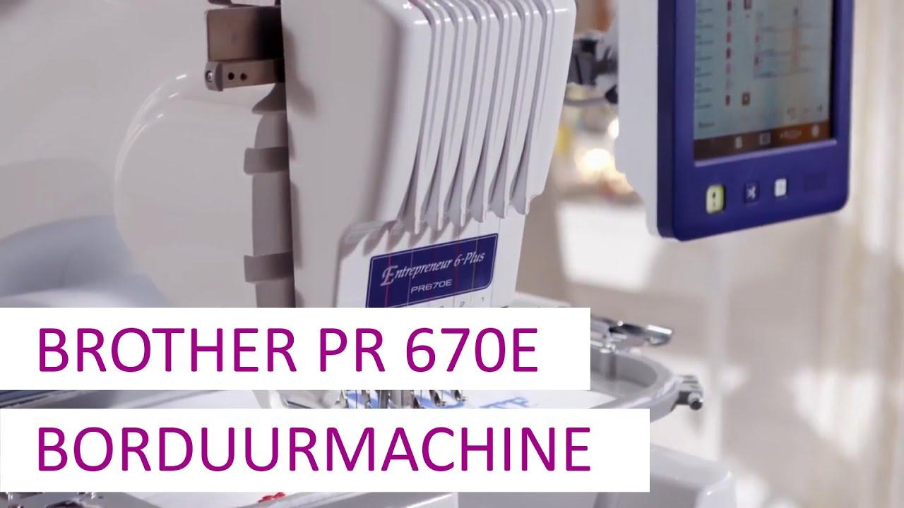 Download De Brother PR670E semi-professionele borduurmachine - 6 naalden