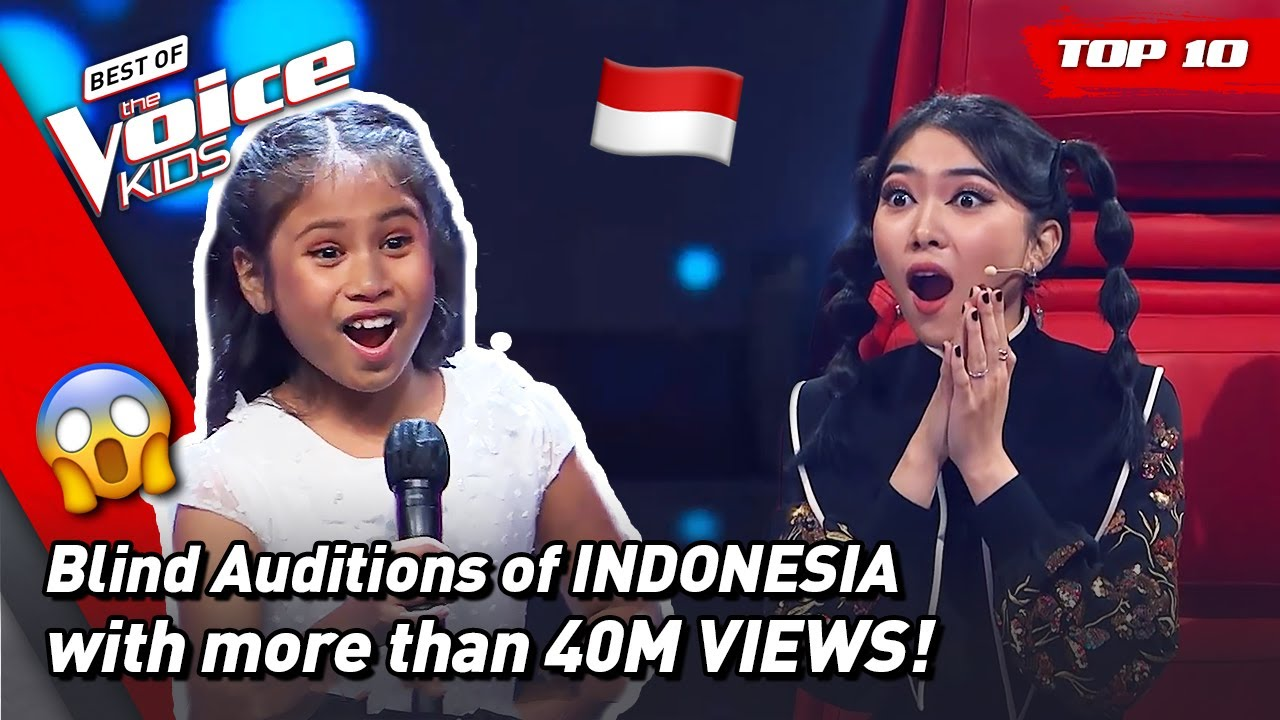 The MOST VIEWED Blind Auditions of The Voice Kids Indonesia 2021! 🇮🇩 | Top 10