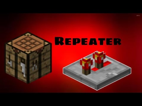 minecraft how to craft a repeater