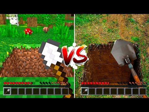 MINECRAFT vs VIDA REAL #02 - ( Minecraft vs Real Life )