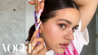Rosalía's Guide to Pink Eyeshadow and a Slicked-Back Ponytail | Beauty Secrets | Vogue