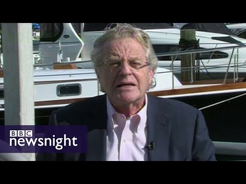 Jerry Springer on Trump: 'America is a journey - sometimes you get lost' - BBC Newsnight
