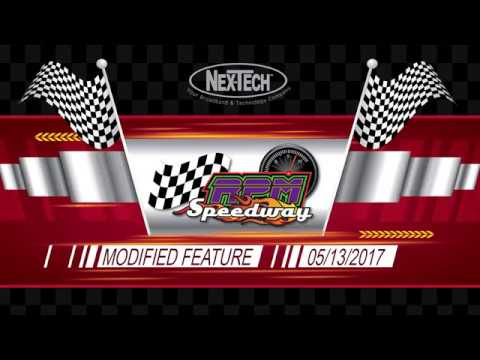 RPM Speedway IMCA Modified Feature Race  05/13/2017