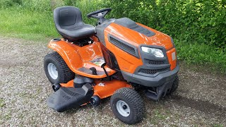 "New 24hp 48"" Husqvarna YTH24V48 Review & Drive"