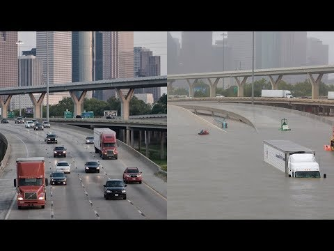 Houston flooding: Before and after