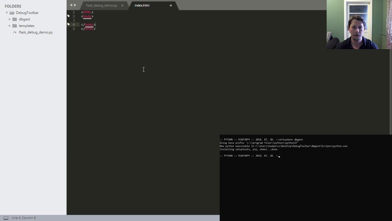 Python - Flask Debug Toolbar Extension