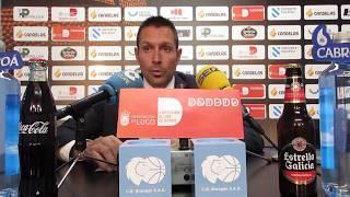 Video Natxo Lezkano Rolda de prensa posterior Cafés Candelas Breogán CB Prat 2017/18