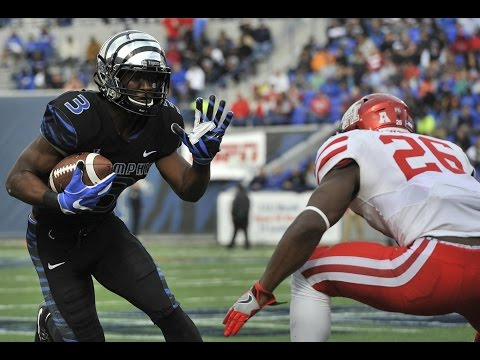 2016 American Football Highlights - Memphis 48, #20 Houston 44