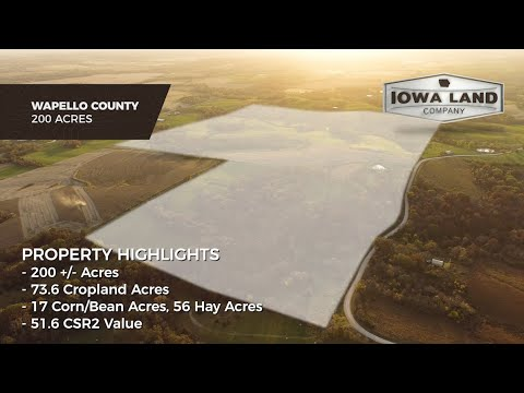 Wapello County, Iowa 200 +/- Acres Tillable, Pasture, And Hunting Land For Sale