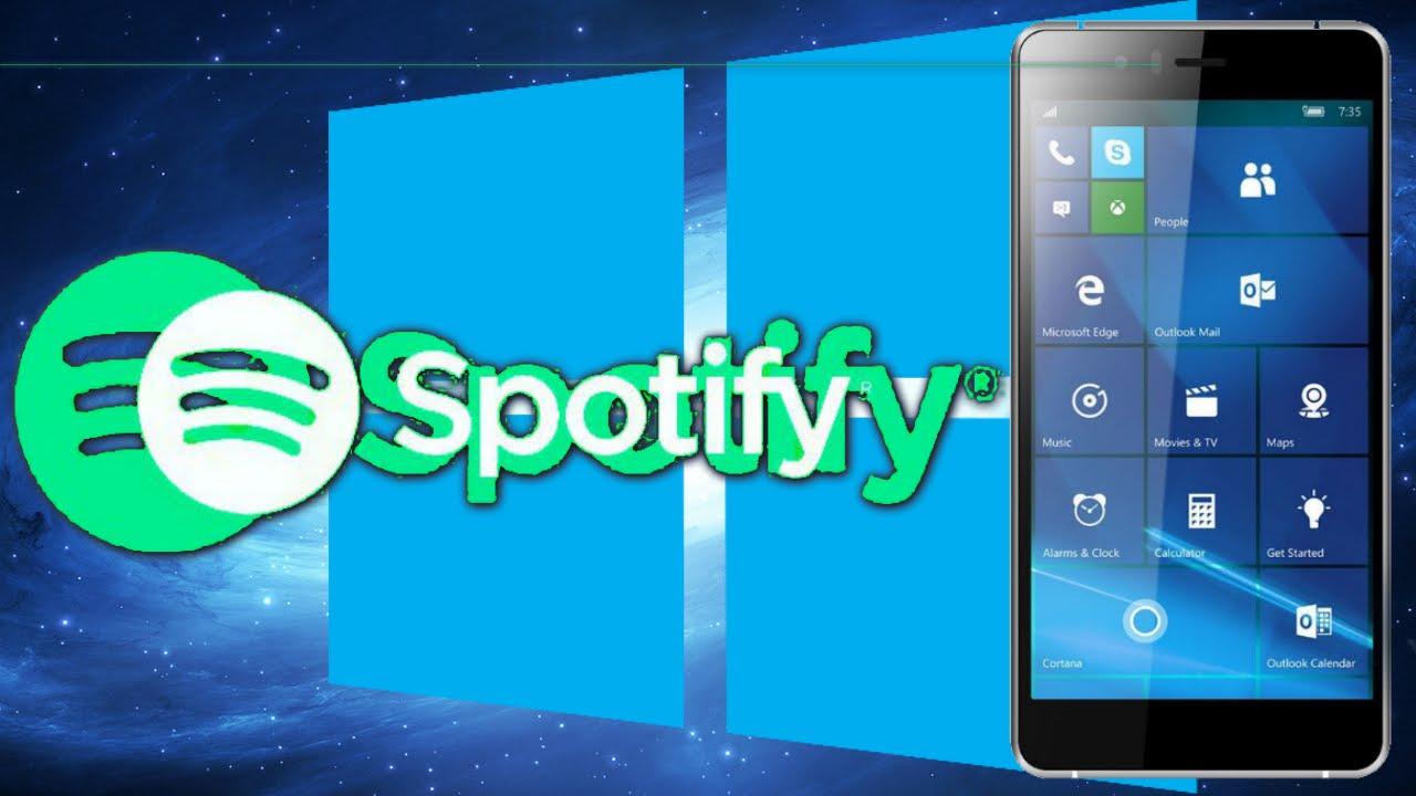 Llega la App de Spotify a Windows 10 Mobile - YouTube