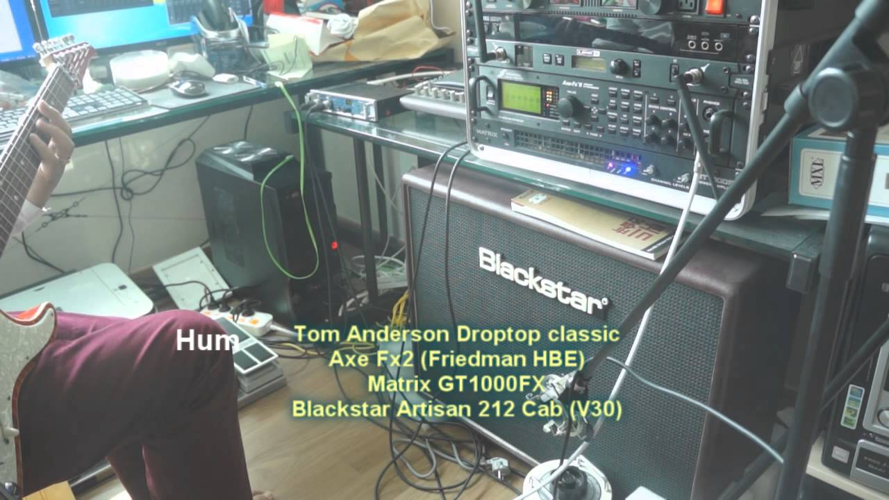 Axe Fx2 , GT1000FX , Blackstar artisan 212 cab(V30) - YouTube