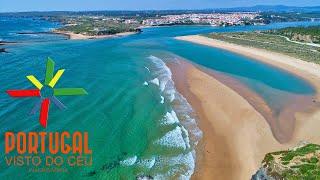 Furnas Beach aerial - Praia das Furnas - Vila Nova de Milfontes - 4K Ultra HD