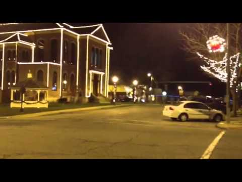 Christmas in Greenville Illinois. Small town USA