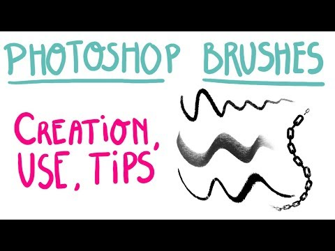Photoshop Brushes - Creation, Use, Tips  - Video in French, with EN subs