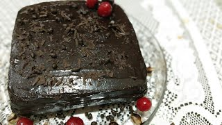 Chocolate ganash  cake by  meenakshi  sharma