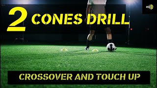 Soccer drill: two cone setup to improve your dribbling.