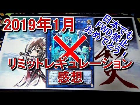 遊戯王2019年1月リミットレギュレーションの感想~ファイアウォール・ドラゴン禁止おめでとう~