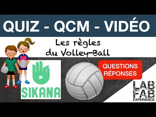Quiz - QCM - Volley ball - Les règles