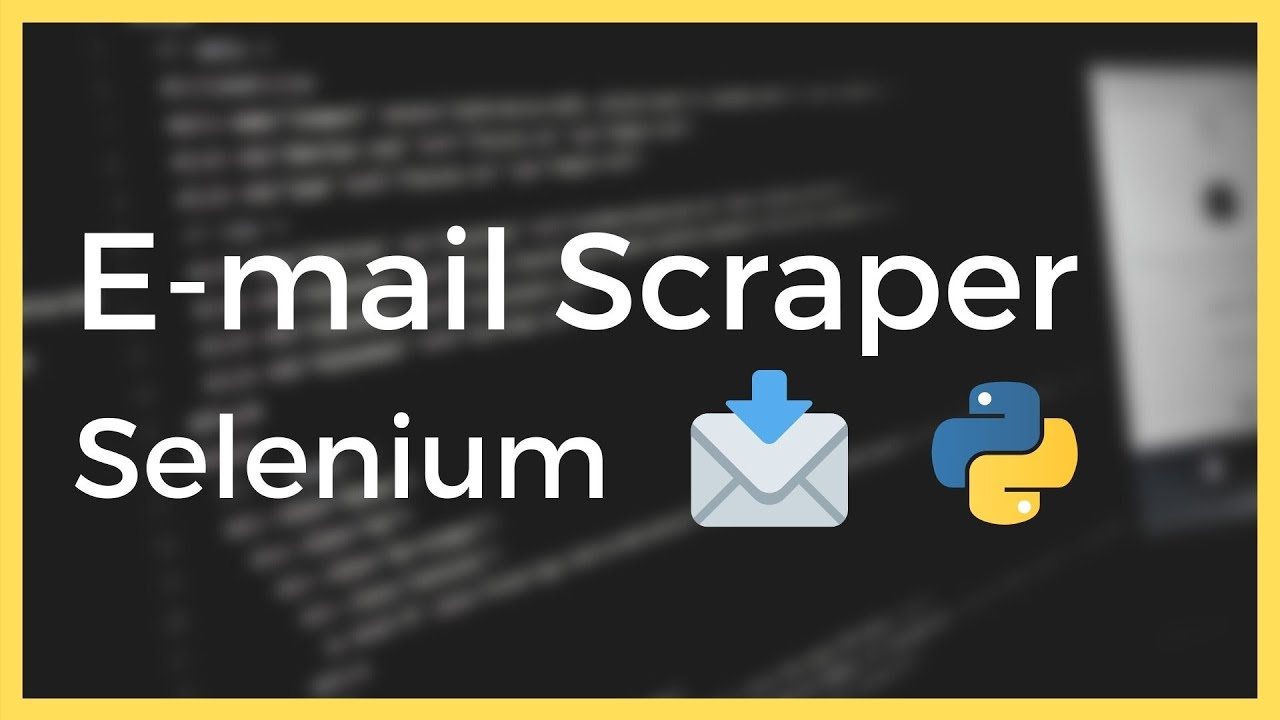 Scrape E-mails from any Website using Selenium in Python