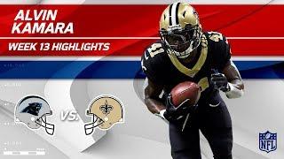 Alvin Kamara's 126 Total Yards & 2 TDs vs. Carolina! | Panthers vs. Saints | Wk 13 Player Highlights