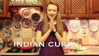 Рецепт индийского карри с курицей и овощами/Indian Chicken Curry Recipe - English Subtitles