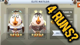 4 Eagle Mountain Attempts For Elite Matilda! | Angry Birds Evolution