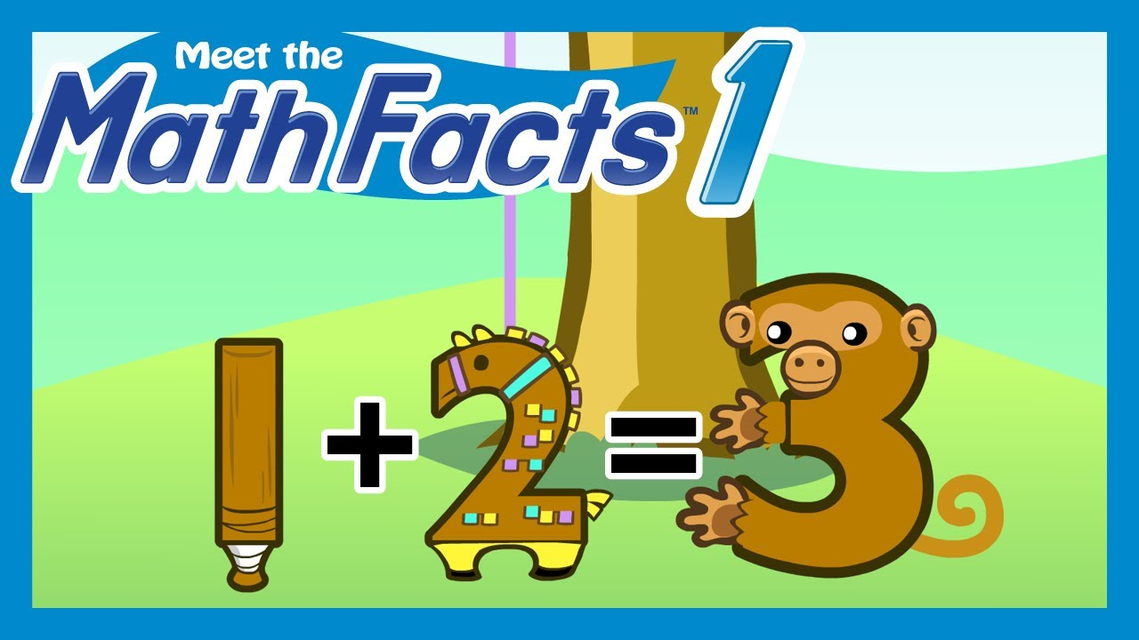 Meet the Math Facts Level 1 - 1+2=3 - YouTube