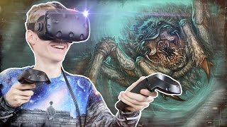 FIGHTING A GIANT SPIDER IN VIRTUAL REALITY!  | Unearthed Inc: The Lost Temple VR (HTC Vive Gameplay)