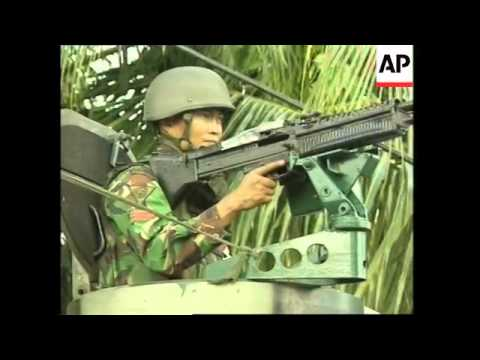 Firefight between Indonesian army and rebels