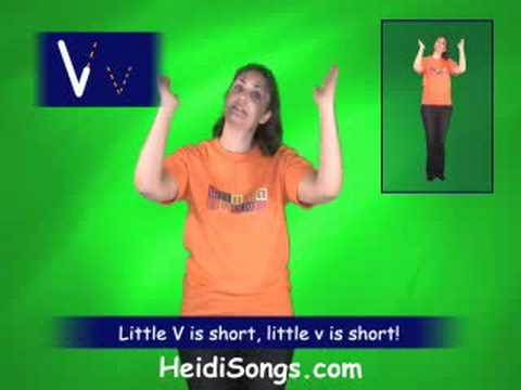 V song - Singable Songs for Letters & Sounds