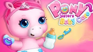 Pony Sisters Baby Horse Care Kids Game - Babysitter Daycare, Fun Dress Up Makeover Game By TutoTOONS