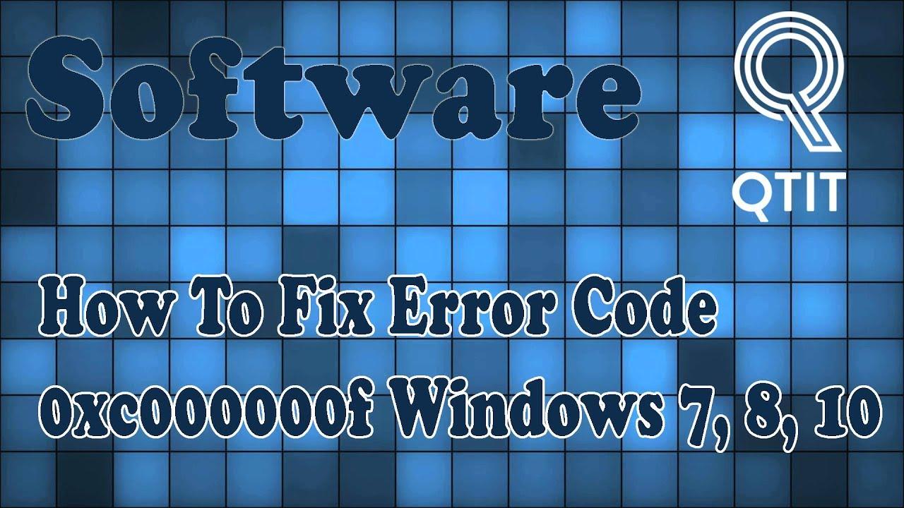 How To Fix Error Code 0xc000000f Windows 7, 8, 10 ...