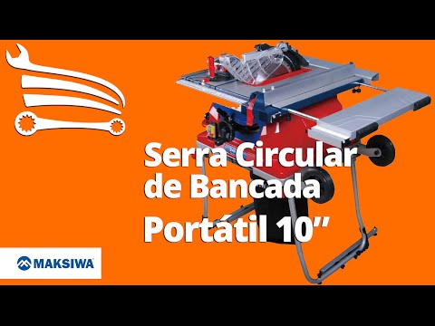 Serra Circular De Bancada Portatil 10 1500 W Maksiwa Loja Do