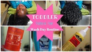 TODDLER & KIDS Hair Wash Day Routine | NATURAL HAIR