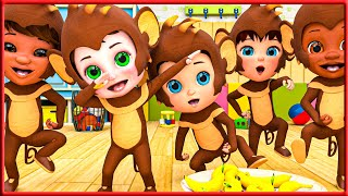 The Animal Sounds Song +More Nursery Rhymes & Kids   Most Viewed Video on YouTube   Banana Cartoon
