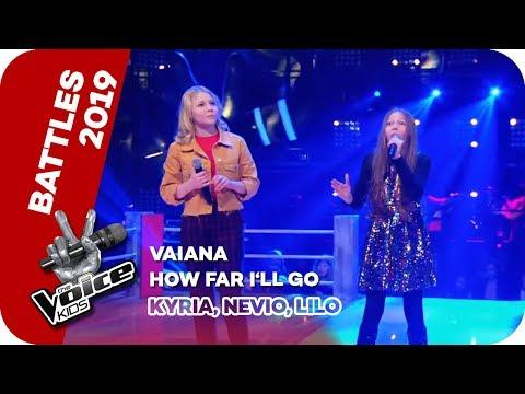 Vaiana - How Far I´ll Go (Kyria, Nevio, Lilo) | Battles | The Voice Kids 2019 | SAT.1