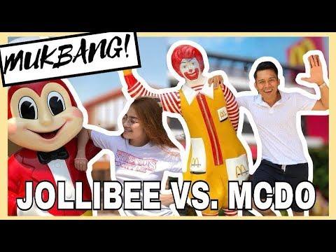 MUKBANG #2 Jollibee Vs. Mcdo