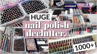 HUGE Nail Polish Declutter | Getting Rid of Most of My Nail Polish Collection!